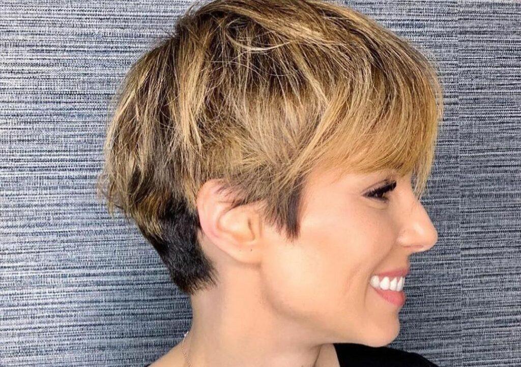 Na imagem a apresentadora Ana Furtado com cabelo Pixie Cut