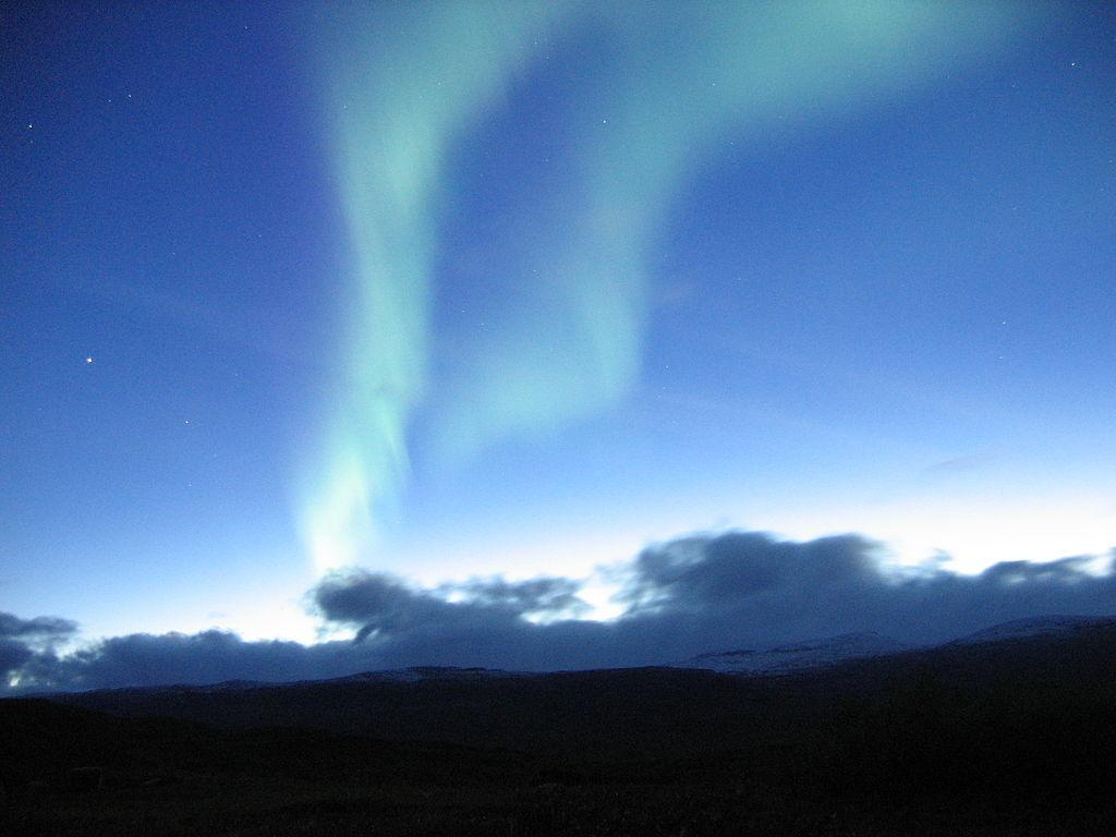 Aurora Boreal na Suécia. Fonte: Wikipédia