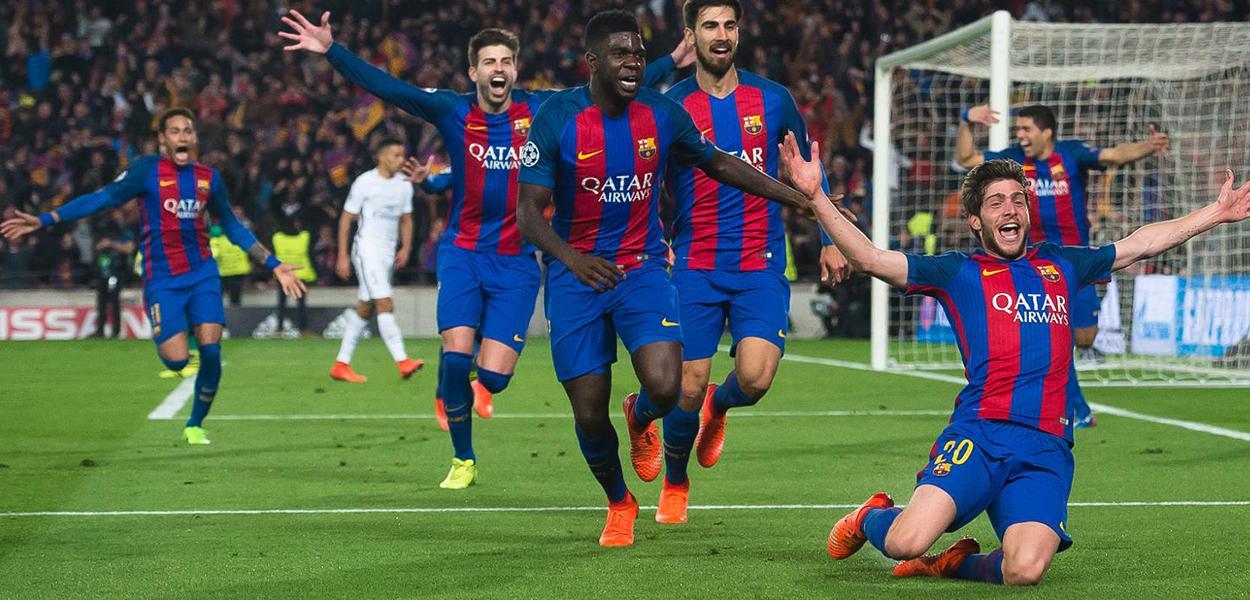 Virada histórica do Barcelona contra o PSG em 2017
