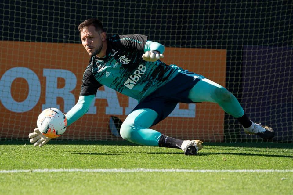 Imagem mostra goleiro do Flamengo, Diego Alves.