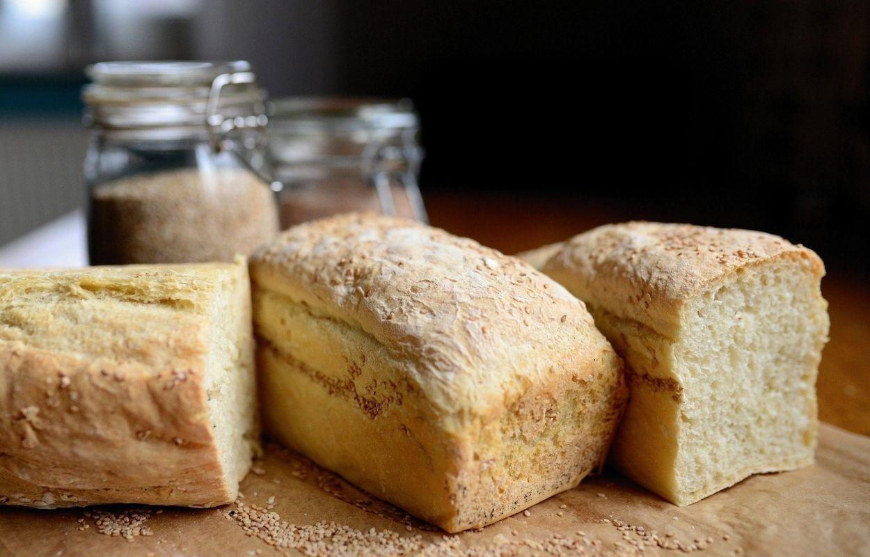 Imagem mostra pão caseiro