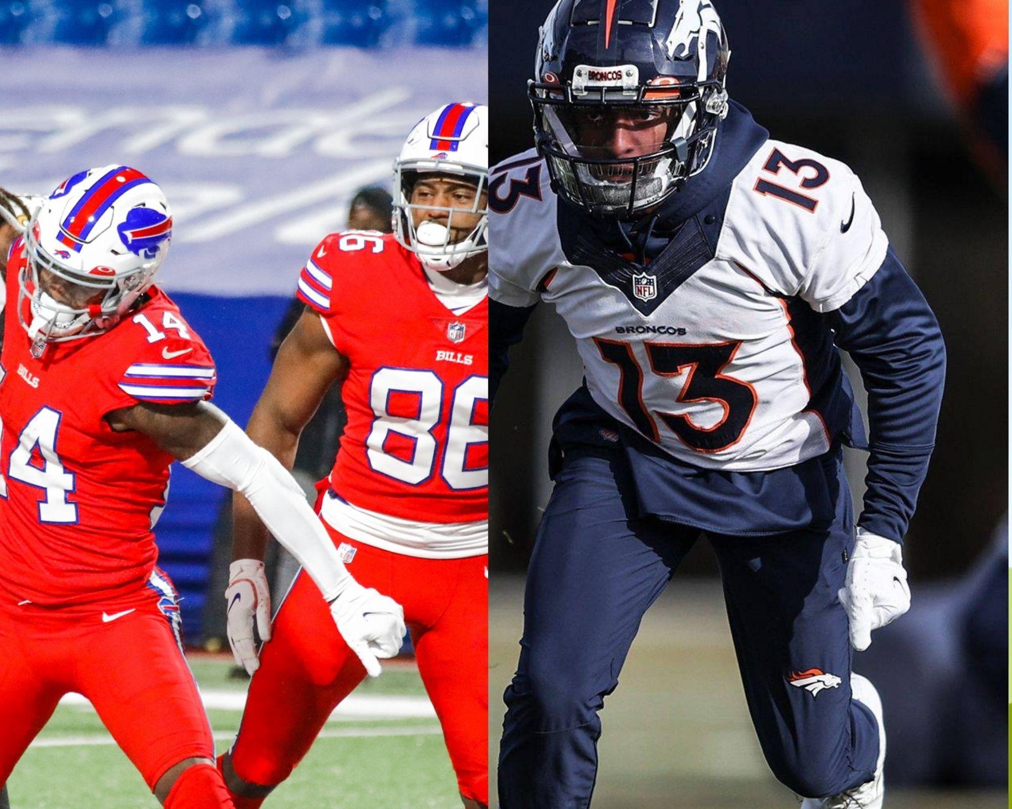 Imagem mostra confronto entre Broncos x Bills.