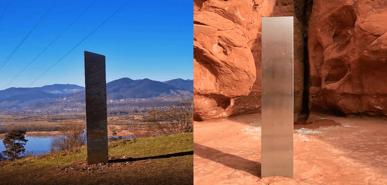 monólitos encontrados em Utah e na România