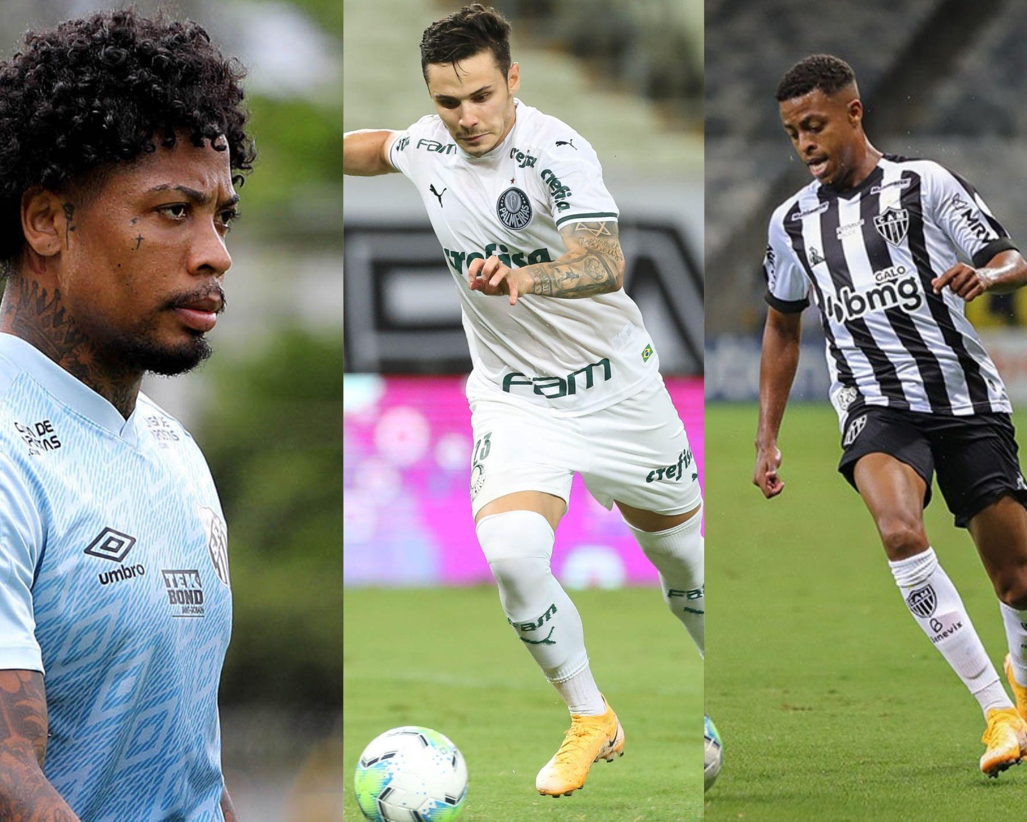 Imagem mostra jogadores que são dicas de capitães para o Cartola FC.