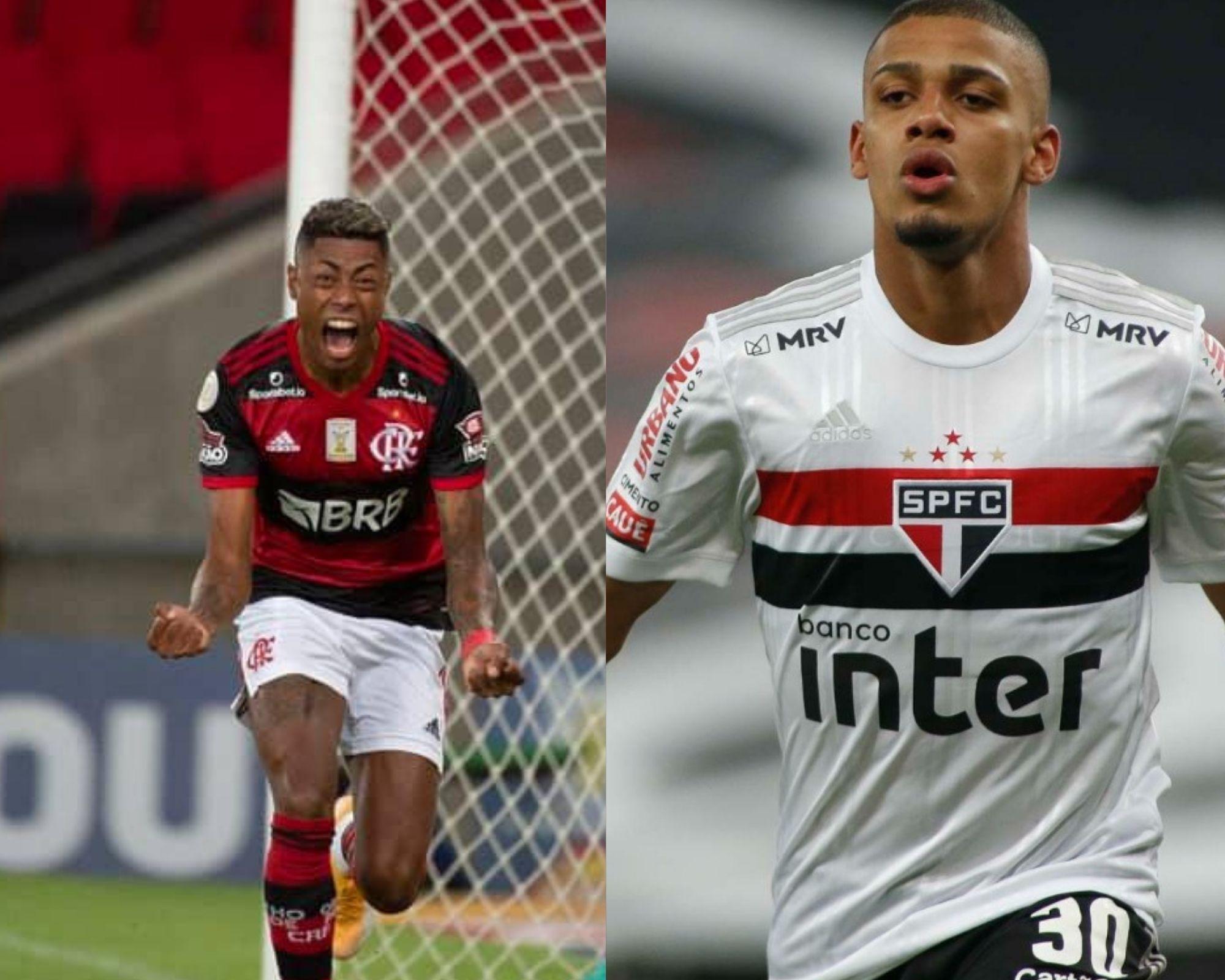 Imagem mostra jogadores que são dicas de atacantes para o Cartola FC.