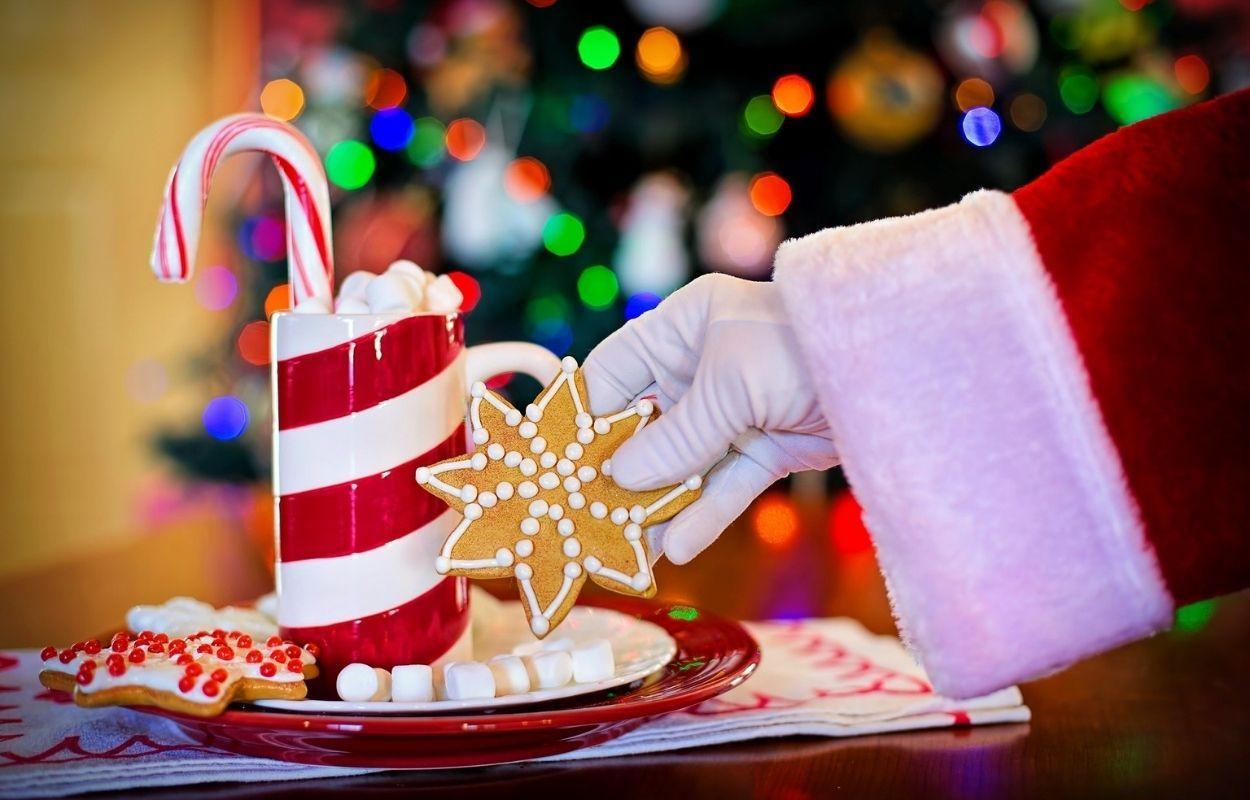 Imagem mostra biscoito de Natal