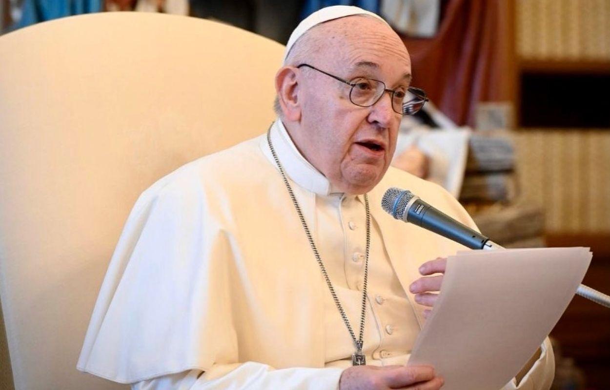 Imagem mostra papa Francisco