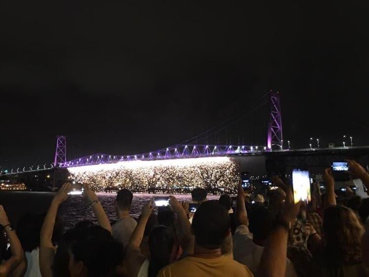 Foto do ano novo em Florianópolis