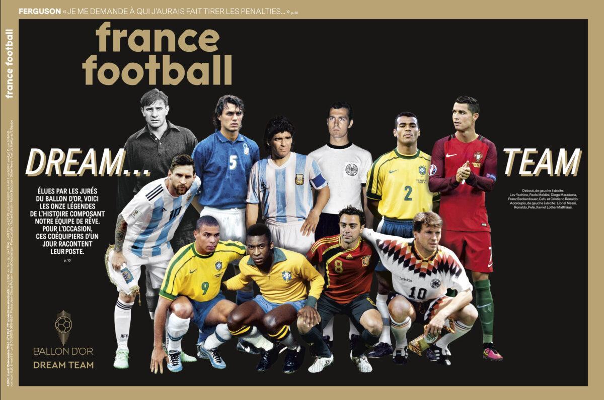 Os 11 titulares do Dream Team Bola de Ouro da France Football