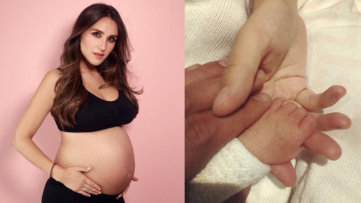 Nas imagens Dulce Maria, mãos de Dulce, do marido , Paco Alvarez, e da filha recén nascida
