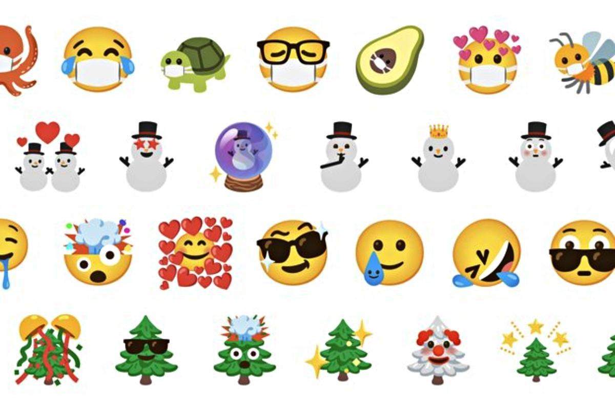 Variedade de emojis do Gboard