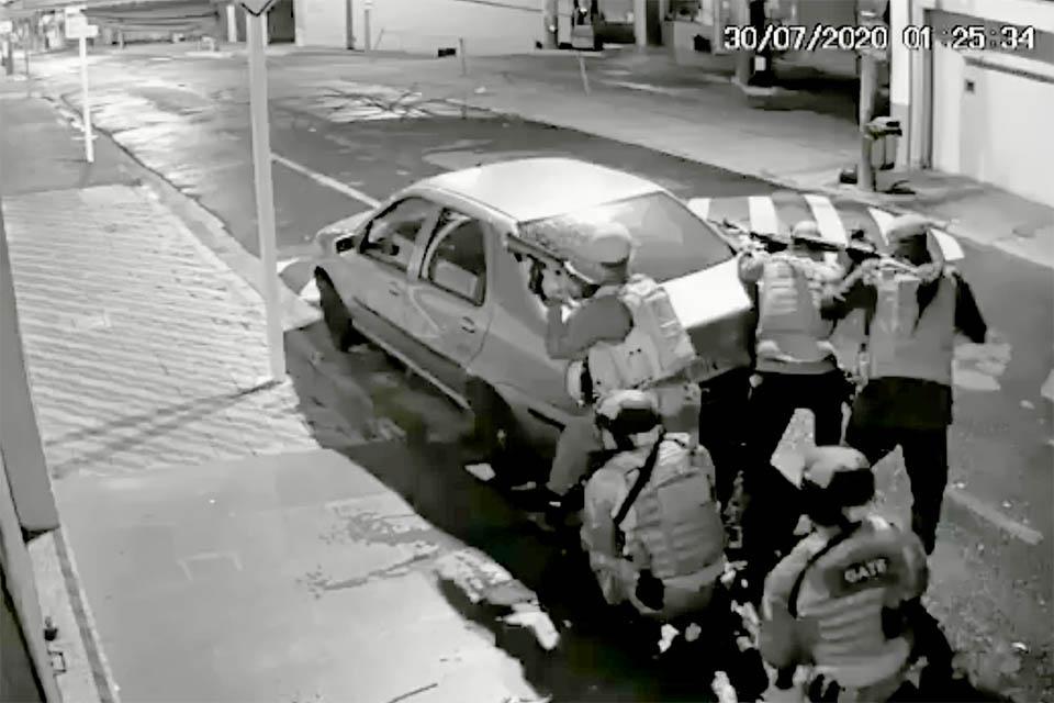 Assaltos no Brasil - imagens do assalto em Botucatu