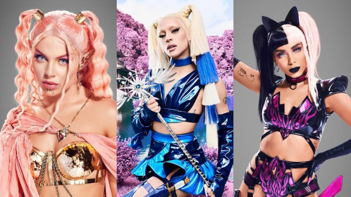 Na imagem as cantoras Luisa Sonza, Pabllo Vittar e Anitta em divulgação de Modo Turbo