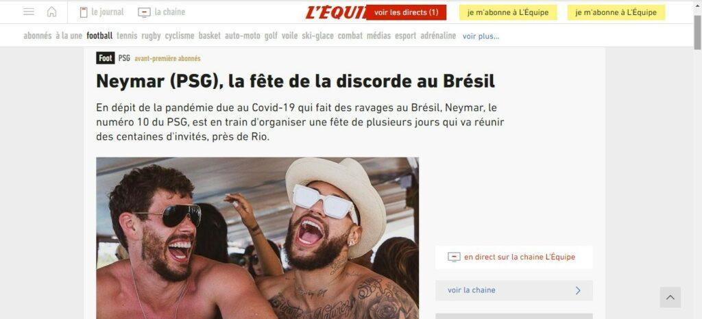 Neymar festa