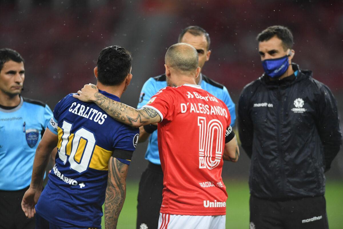 Craques argentinos, Tevez e D'alessandro são capitães de Boca e Internacional, respectivamente