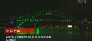 Imagem dos fogos de ano novo na Austrália