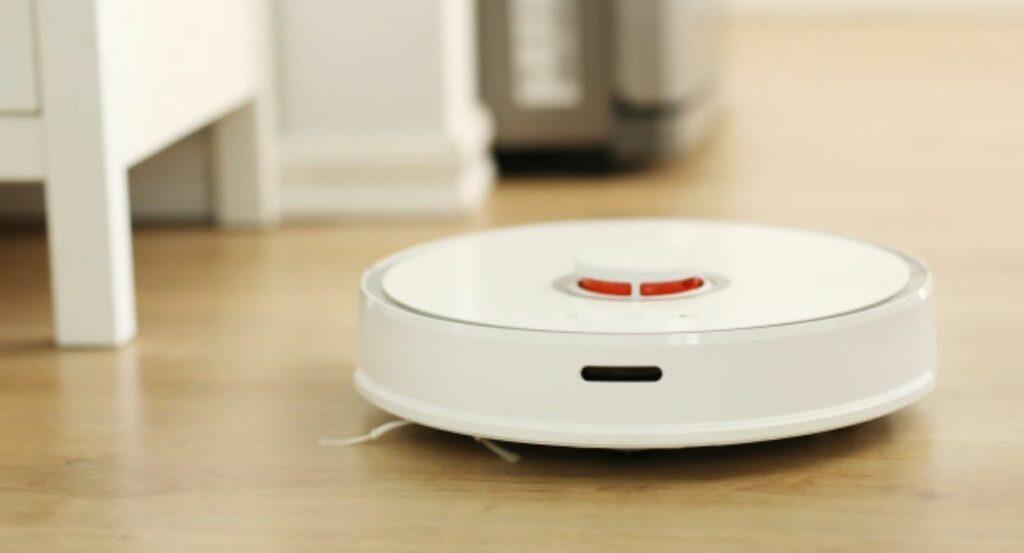 aspirador robô branco