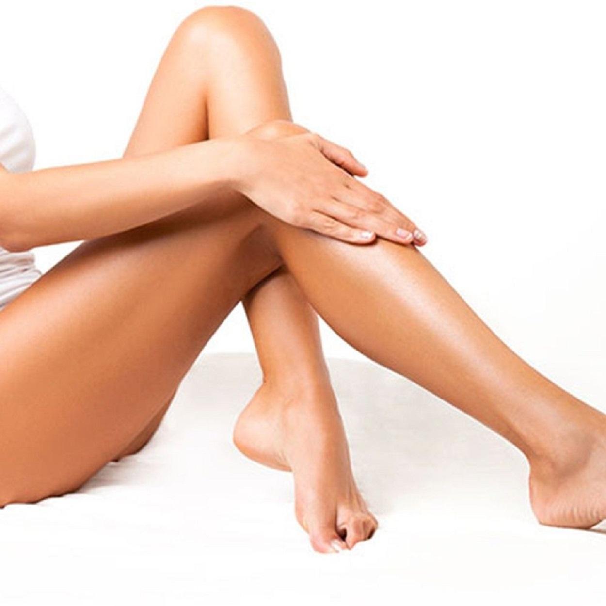 Banho de lua nas pernas