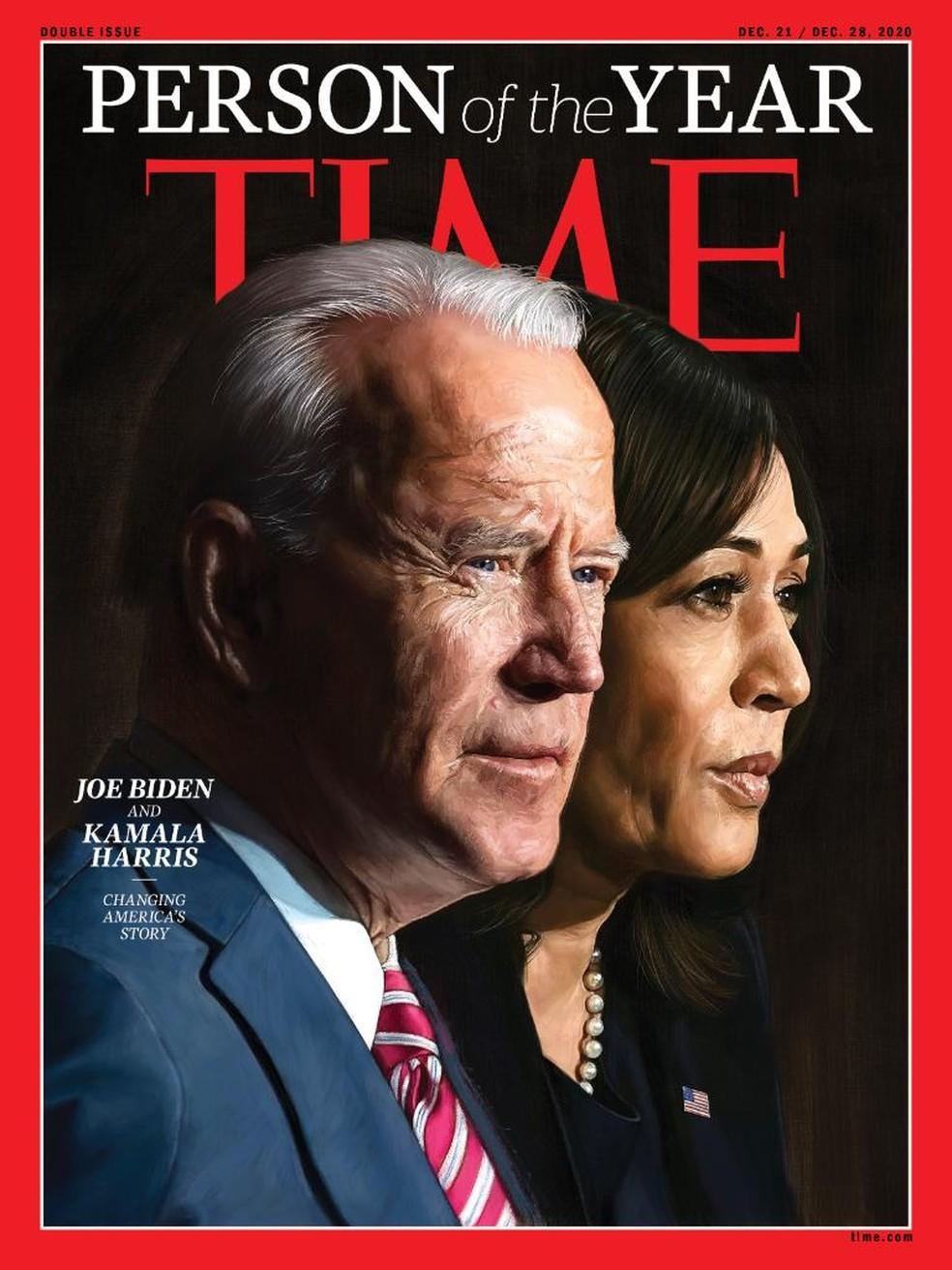 Joe Biden e Kamala Harris são as Personalidades do Ano, diz revista Time