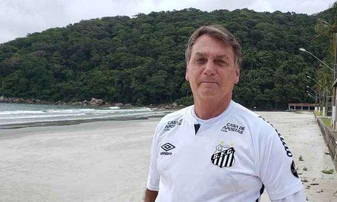 Bolsonaro réveillon no guarujá