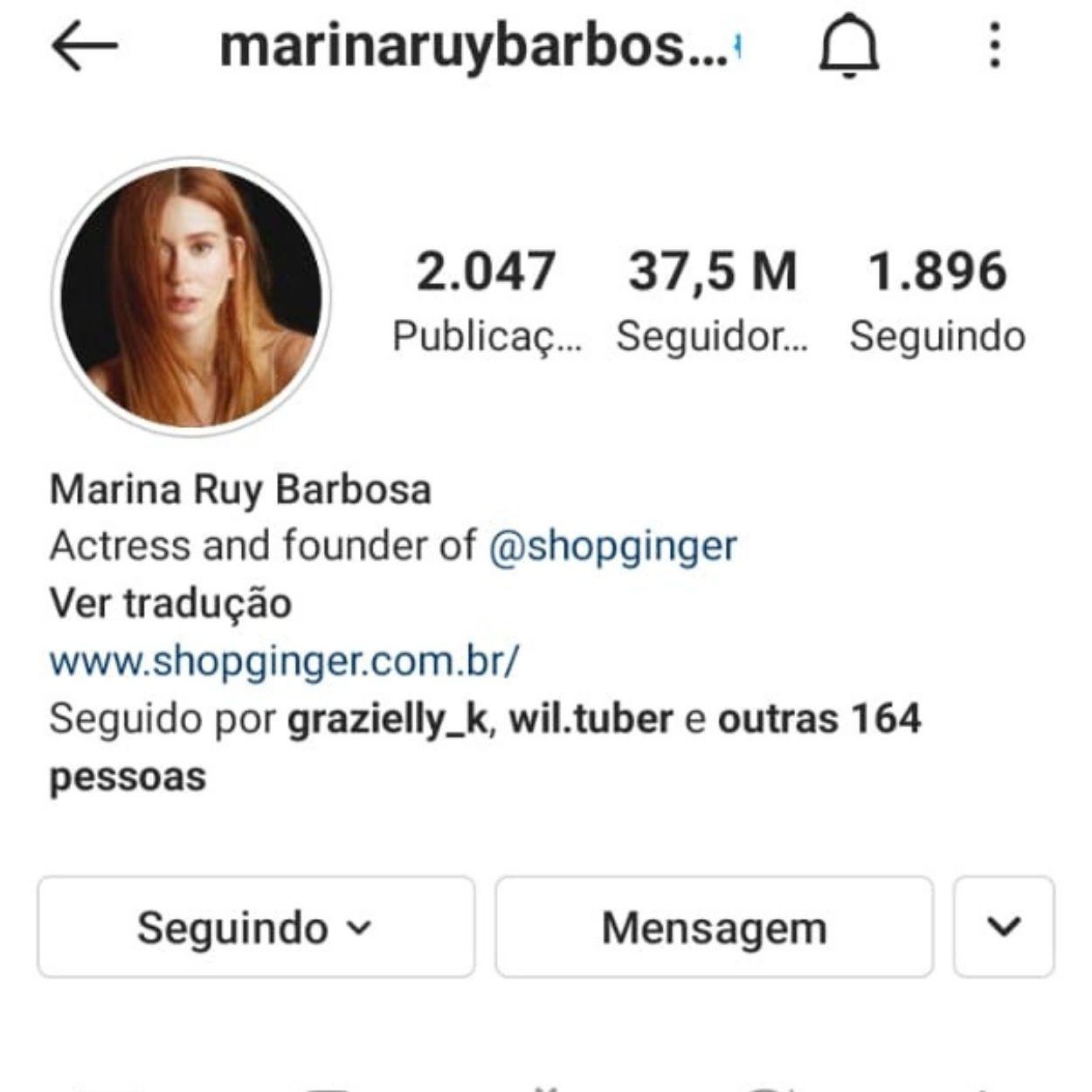 Brasileiros mais seguidos no Instagram Marina