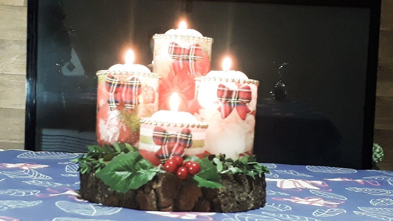 como fazer velas artesanais natal