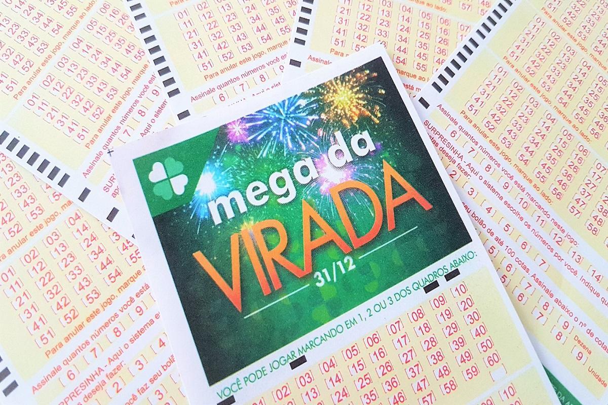 mega da virada 2020 - A imagem mostra volantes da Mega da Virada