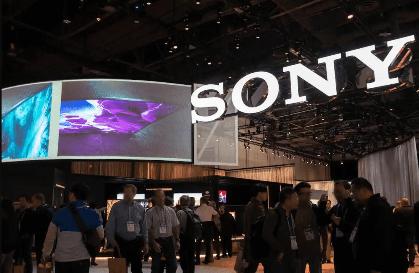 Foto mostra logo da Sony
