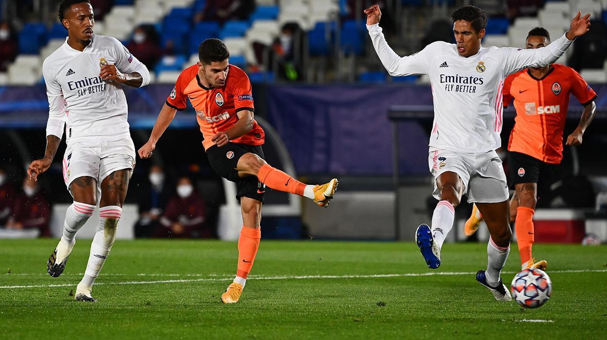 Real Madrid x Shakhtar pela Champions League 2020/21