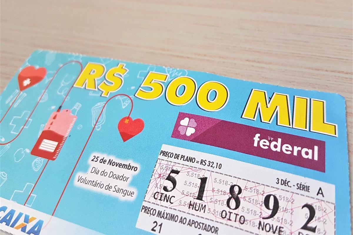 Bilhete da loteria Federal