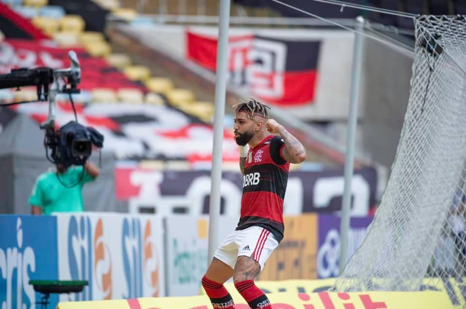 Imagem mostra jogador do Flamengo, Gabi.