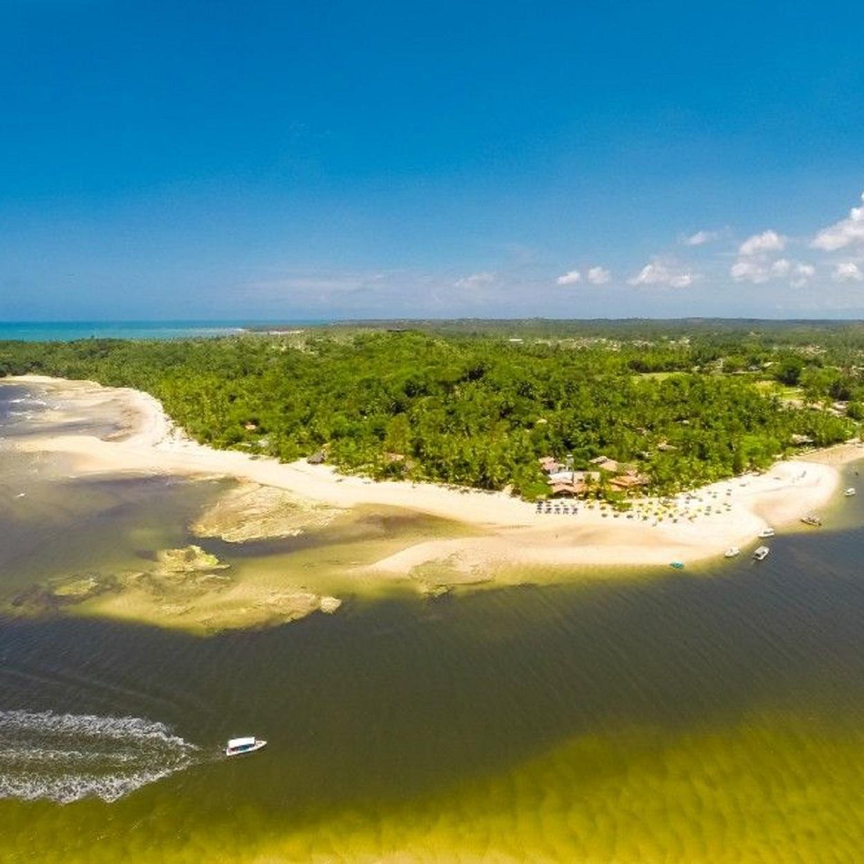 Imagem aérea de Boipeba