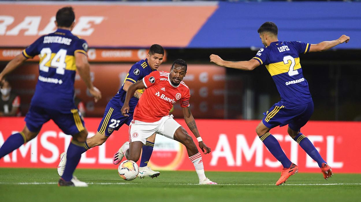 Jogos entre Inter e Boca tiveram transmissão exclusiva da Conmebol TV