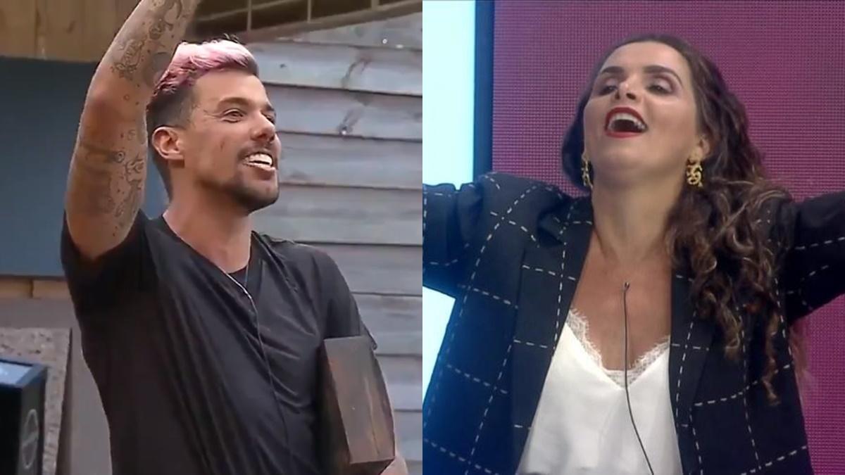 Lipe Ribeiro e Luiza Ambiel em A Fazenda 2020 (
