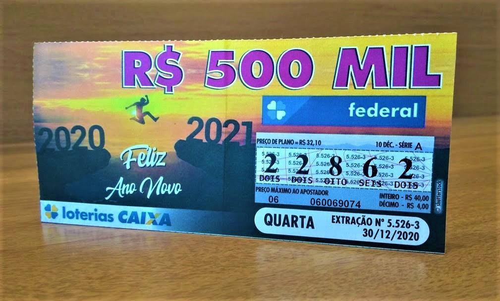 resultado da loteria federal - A imagem mostra um bilhete da Loteria Federal
