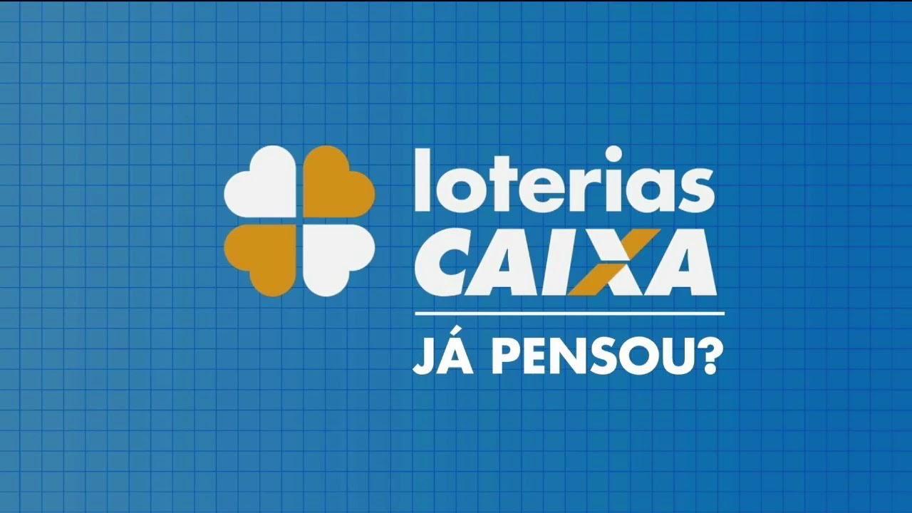 A Imagem mostra o logo das Loterias CAIXA