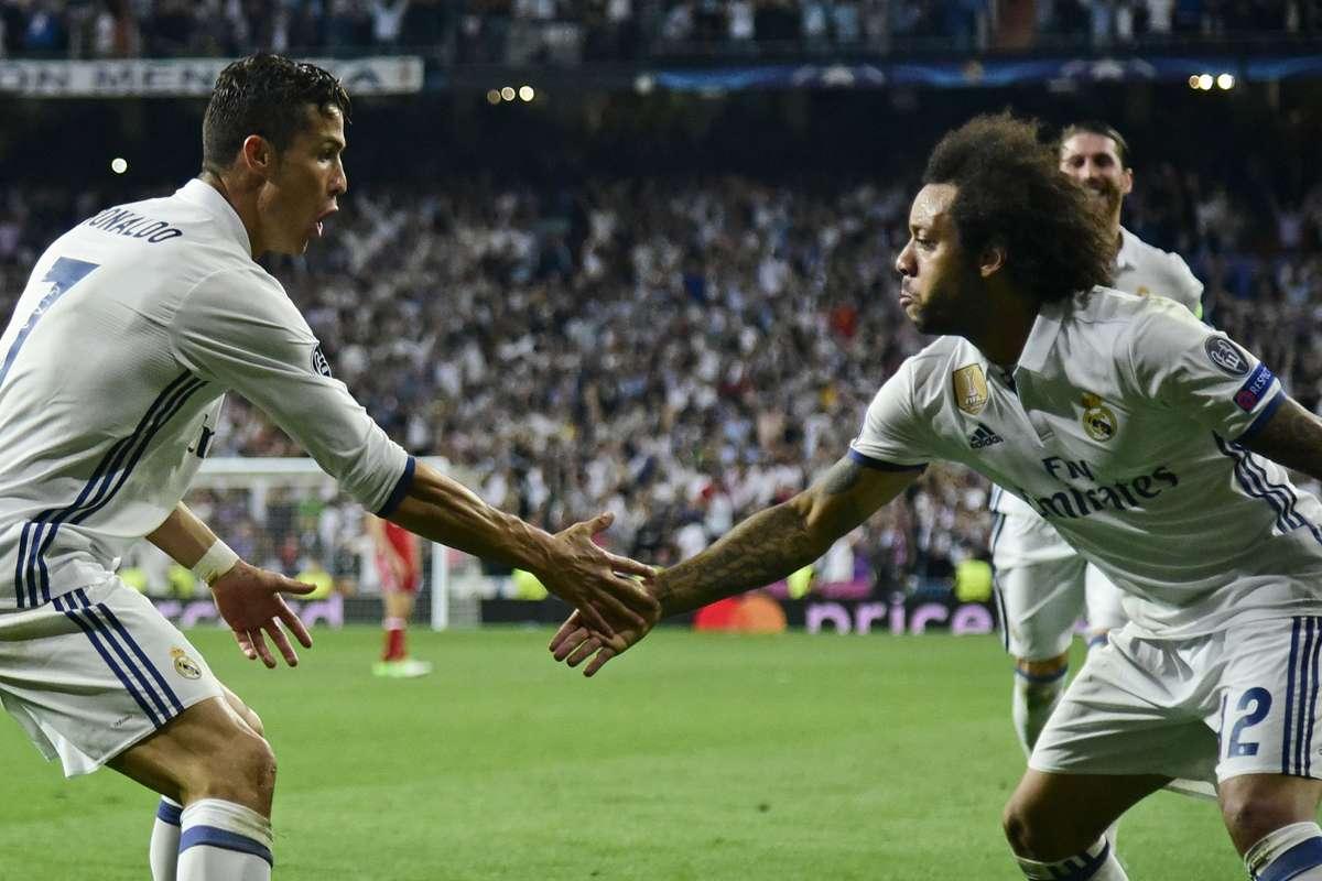 Marcelo e Cristiano Ronaldo venceram quatro Champions juntos no Real Madrid