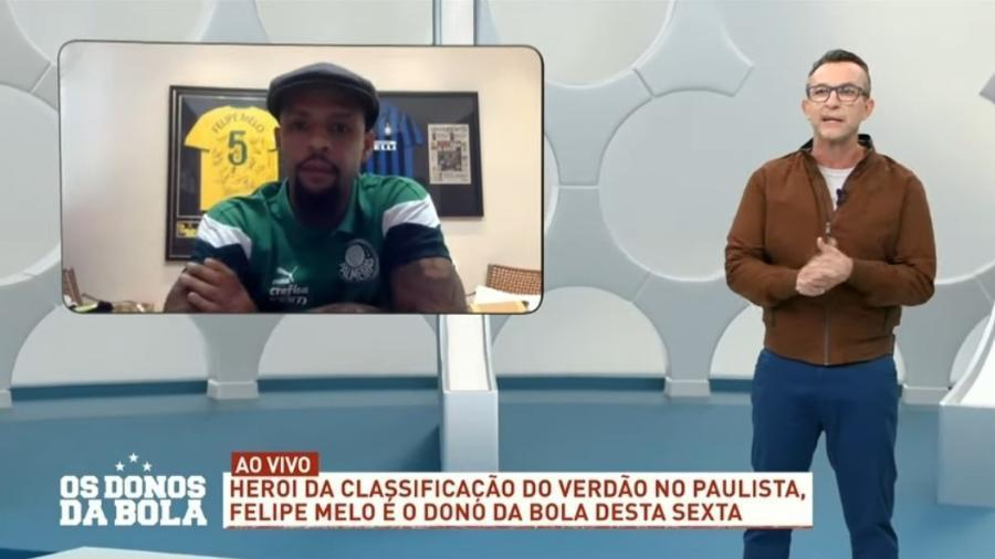 Neto e Felipe Melo refizeram as pazes em 2020