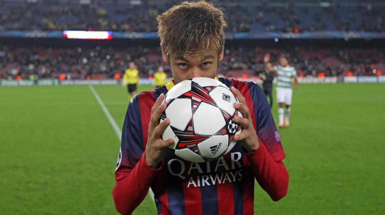 Neymar na Champions pelo Barcelona