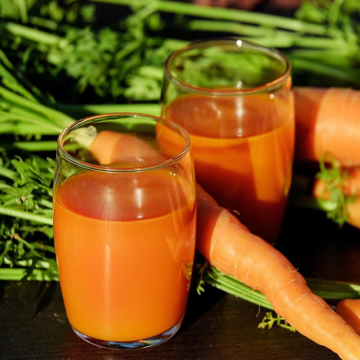 receitas sucos betacaroteno