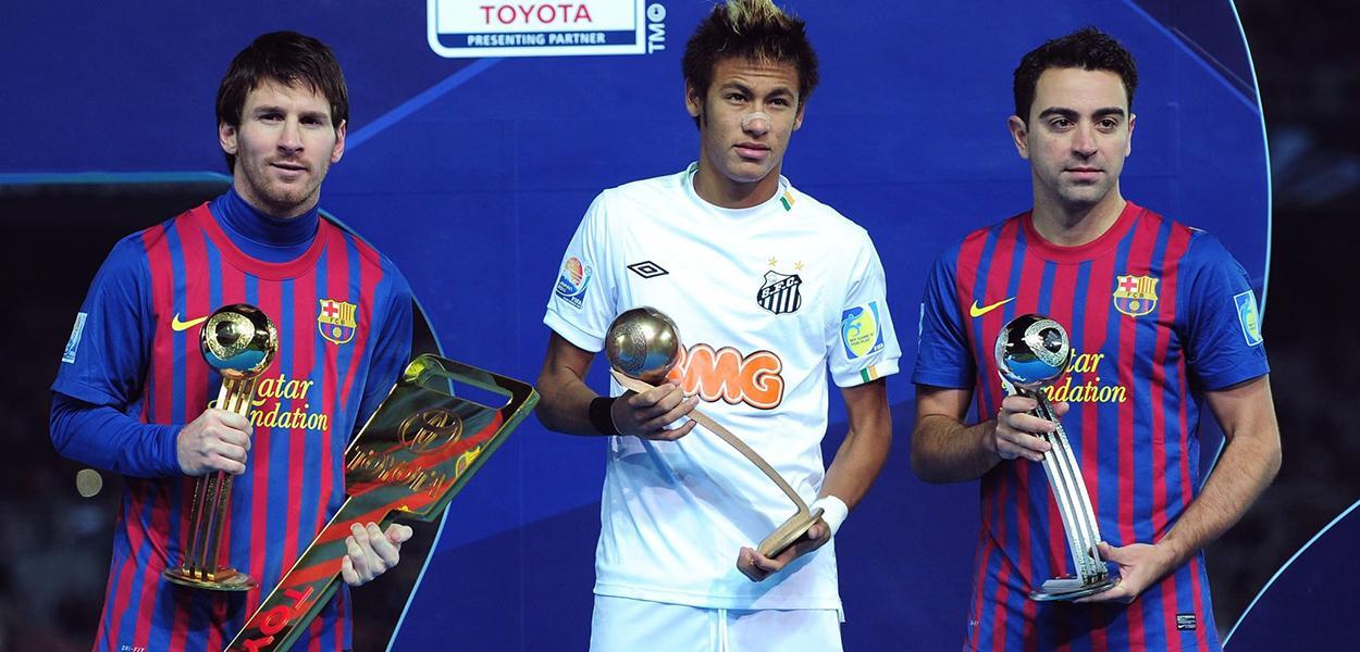 Neymar e Messi no Mundial de Clubes de 2011