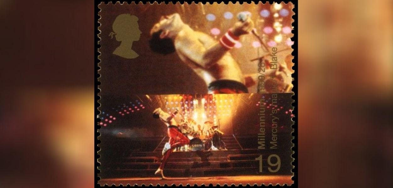 Selo da Royal Mail mostra Freddie Mercury e Roger Taylor