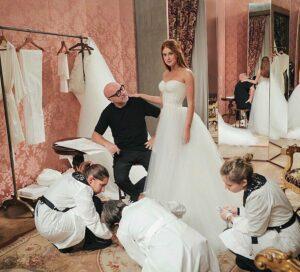 Imagem mostra vestido de noiva da Marina Ruy Barbosa
