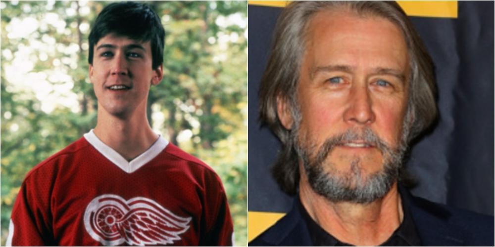 Imagem mostra antes e depois do ator Alan Ruck
