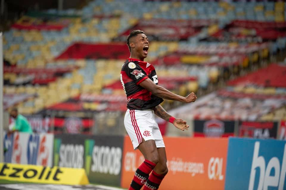 Imagem mostra atacante do Flamengo, Bruno Henrique.
