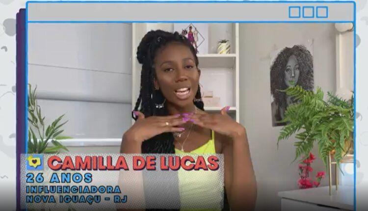 Imagem mostra a influenciadora Camilla de Lucas no BBB 21