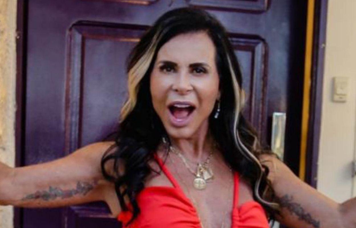 Imagem mostra rosto da Gretchen
