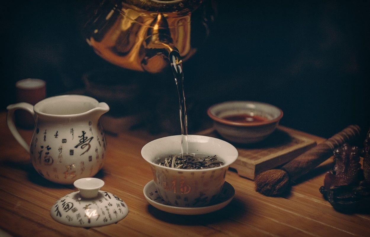 Imagem mostra chá verde