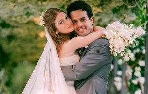 Imagem mostra foto do casamento de Marina Ruy Barbosa e Alexandre Negrão