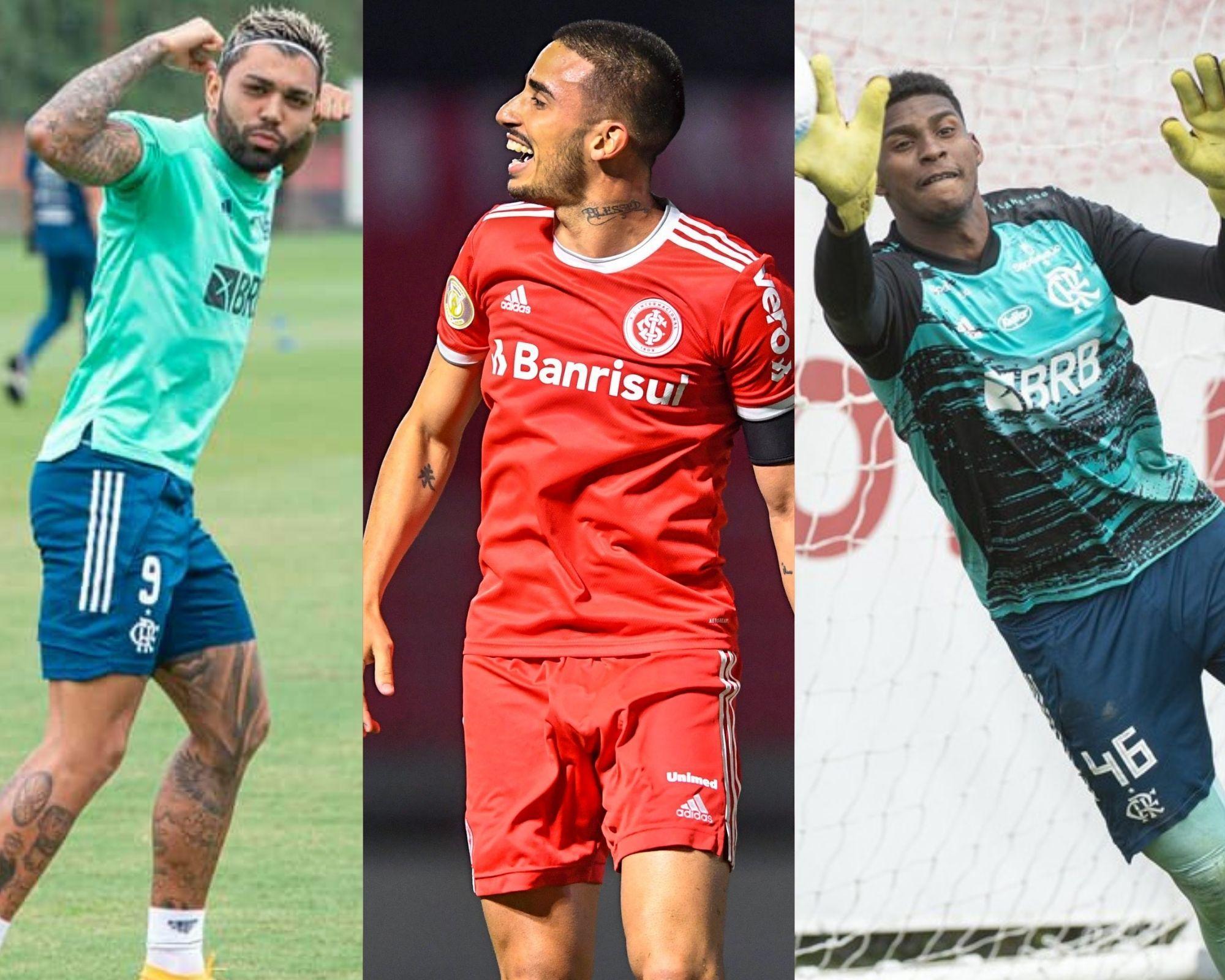 Imagem mostra jogadores que estão na lista dos mais escalados do Cartola FC